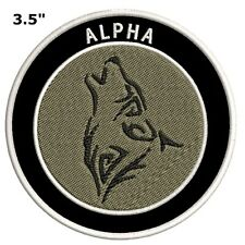 Alpha Wolf Embroidered Patch Iron / Sew-On Souvenir Nature Explore National Park
