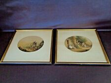 Le Blond & Co. Pair of Antique Colorized 19th Century Framed Prints