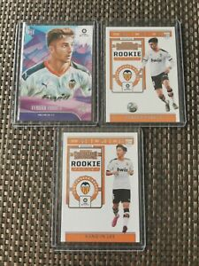 """2019 Chronicles FERRAN TORRES & KANG-IN LEE """"Rookie Ticket"""" RC 3 Cards VALENCIA"""