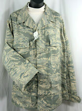 Military USAF ABU Shirts Mens Utility Coat New With Tags Digital Tiger Button