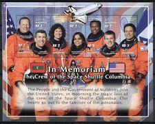 MALEDIVEN MALDIVE 2002 Raumfähre Columbia Raumfahrt Space 4104-4110 **