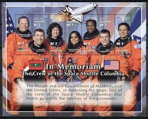 Malediven 2002 Raumfähre Columbia Raumfahrt Space 4104-4110 Postfrisch MNH