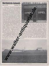 Orag Opel Freiburg / Raimann Maschinen St.Georgen Werbeanzeige anno 1925 Reklame