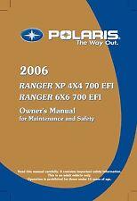 Polaris Owners Manual Book 2006 RANGER 6X6 700 EFI