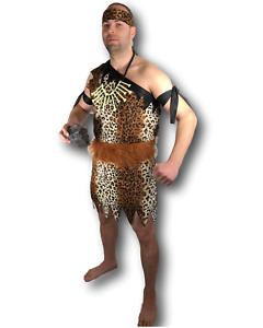 Adulte Hommes des Cavernes Costume Déguisement Jungle Tarzan Cerf Do Grotte