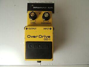 Vintage 1982 Boss OD-1 Overdrive Effects Pedal Made in Japan MIJ Black Label