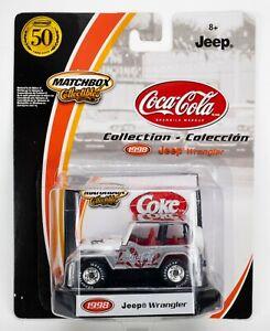 2002 Matchbox Collectibles Coca-Cola #1 1998 Jeep Wrangler SILVER / WHITE