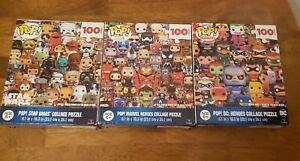 SET OF 3 Cardinal Funko Pop Puzzles 100 Pieces each STAR WARS,MARVEL,DC COMICSNe