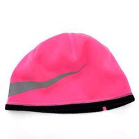 New Nike Girls Beanie Therma Reflect Swoosh Hat Size 7/16 Pink Pow Caps