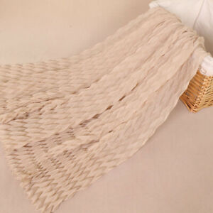 Women Hijab Crinkle Cotton Scarf Solid Color Pleated Shawls Wraps Scarves Soft