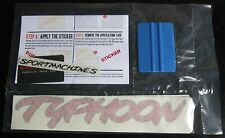 1992 1993 GMC Truck Red Typhoon Decal Kit