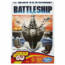 GENUINE HASBRO USA MONOPOLY BATTLESHIP GRAB N GO BOARD GAME B09951020