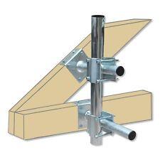 Dachmast Montageset - 2 Träger / 2 Mastbefestigungen / Befestigungsschrauben
