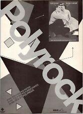 1980 Vintage 8X11 Album Promo Print Ad For Polyrock On Rca