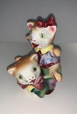 Vintage Anthropomorphic Stack/Leap Frog Kittens Japan Salt & Pepper Shakers