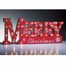 37 LED Merry Christmas Warm White Xmas Sign Table Top Lamp Window Light Decor
