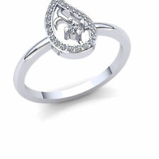 Fancy Right Hand Ring 10K Gold Natural 1carat Round Cut Diamond Womens Bridal
