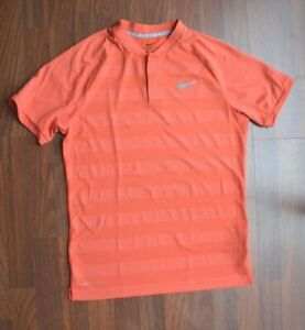 Nike Golf Blade Zonal Cooling Polo T-Shirt Rush Coral Orange Men's Small