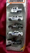 MATCHBOX POLICE RESCUE 5 PACK NYPD CARS DIECAST 1:64 SCALE ASSORTMENT BOYS NEW