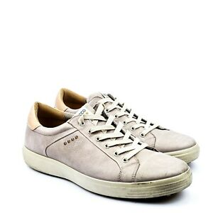 Ecco Hydromax E-DTS Mens Golf Shoes Beige Leather US 12 EU 46 UK 11.5