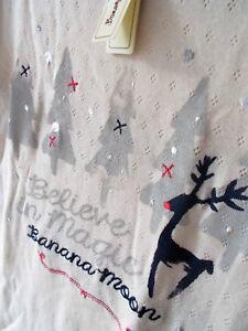 BANANA MOON MONACO Winter Weihnachts Pulli Rentier Schnee MAGIC Snowflake XS 38