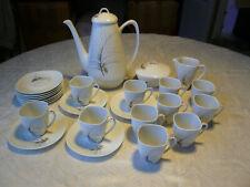 porcelaine de limoges service à café 11 tasses & cafetiere signé Raynaud de 1960