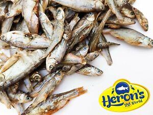 HERONS Dried Whole Sprats Large 100% NATURAL BARF Dog Puppy Fish Treats