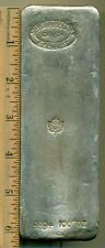 Johnson Matthey & Mallory Canada 999+ 100+ oz Silver Bar Maple Leaf