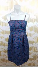 Leifnotes Anthropologie Size 4 Strap Optional Holiday Formal Dress Lined Floral