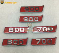 Fenders 700 800 900 Chrome with Red Badges Emblems Decal Pair for Brabus Style