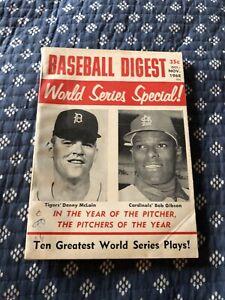 Baseball Digest Oct/Nov 1968 World Series Special Detroit Tigers St Louis VG