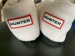 Hunter Boots Fleece Liners White Cream Large