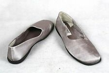 Esprit Womens Sugar Shiny Pewter Satin Cloth Casual Flats Loafers Shoes Size 7.5