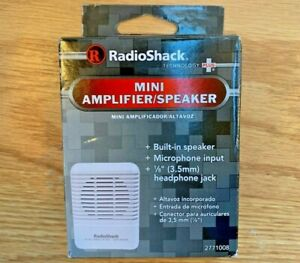 RadioShack Mini Amplifier Speaker Cat. # 277-1008 New in box w instructions NOS