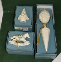 Four Vintage Lenox Christmas Ornaments
