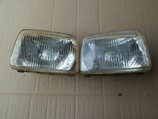 FORD FIESTA MK1 PAIR OF HEADLIGHTS  HALOGEN FORD DRIVERS & PASSENGER SIDE