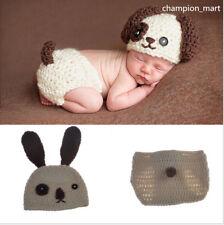 Neu Fotoshooting Neugeborene Baby Sets Poppy Strick Kostüm Gestrickt DE