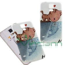 Cover copri batteria Gatto e Pesce per Samsung Galaxy S5 G900F neo G903F