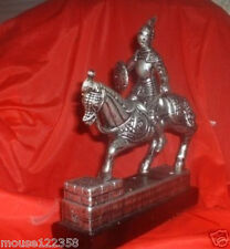 OLd Medival  Knight Mounted on Horse with sword  shield