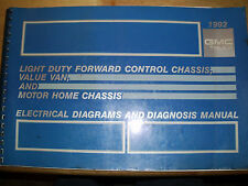 1992 GMC MOTOR HOME CHASSIS ELECTRICAL DIAGNOSIS & WIRING DIAGRAMS MANUAL