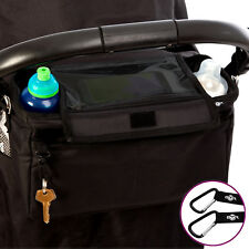 BTR XL Pram Buggy Organiser Storage Bag for Buggies Mobile Phone and