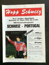 WM-Qualifikation 31.03.1993 Schweiz - Portugal, Stadion Wankdorf Bern