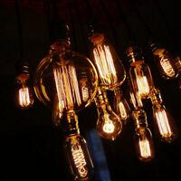 E27 Screw 40W/60W Filament Edison Light Bulb Retro Vintage Squirrel Cage Antique