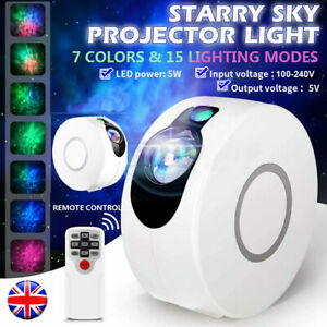 UK Galaxy Starry Night Light Laser Projector Ocean Wave Star Sky Party LED Lamp