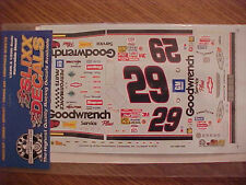 """BLACK NUMBERS"" 2001 KEVIN HARVICK #29 GOODWRENCH  1/24-1/25  WATER SLIDE DECAL"
