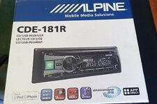 ALPINE CDE 181-R Car CD Player, with REMOTE CONTROL. USB. MP3. 4X50 W.  In GREEN