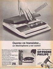 Publicité Advertising 096 1967 Philips Radio-électrophone Op'phone