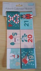 New Trimits - Advent Calander Ribbon -  Make your Own Advent Calendar