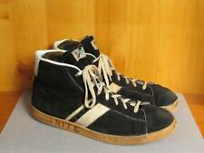 Vintage Pro Keds High Top Basketball Sneakers Shoes Black Suede Leather Sz.16