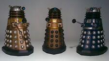 "3 x Doctor Who Daleks Axis Scientist Interrogator 5"" Figures B&M Complete Set"